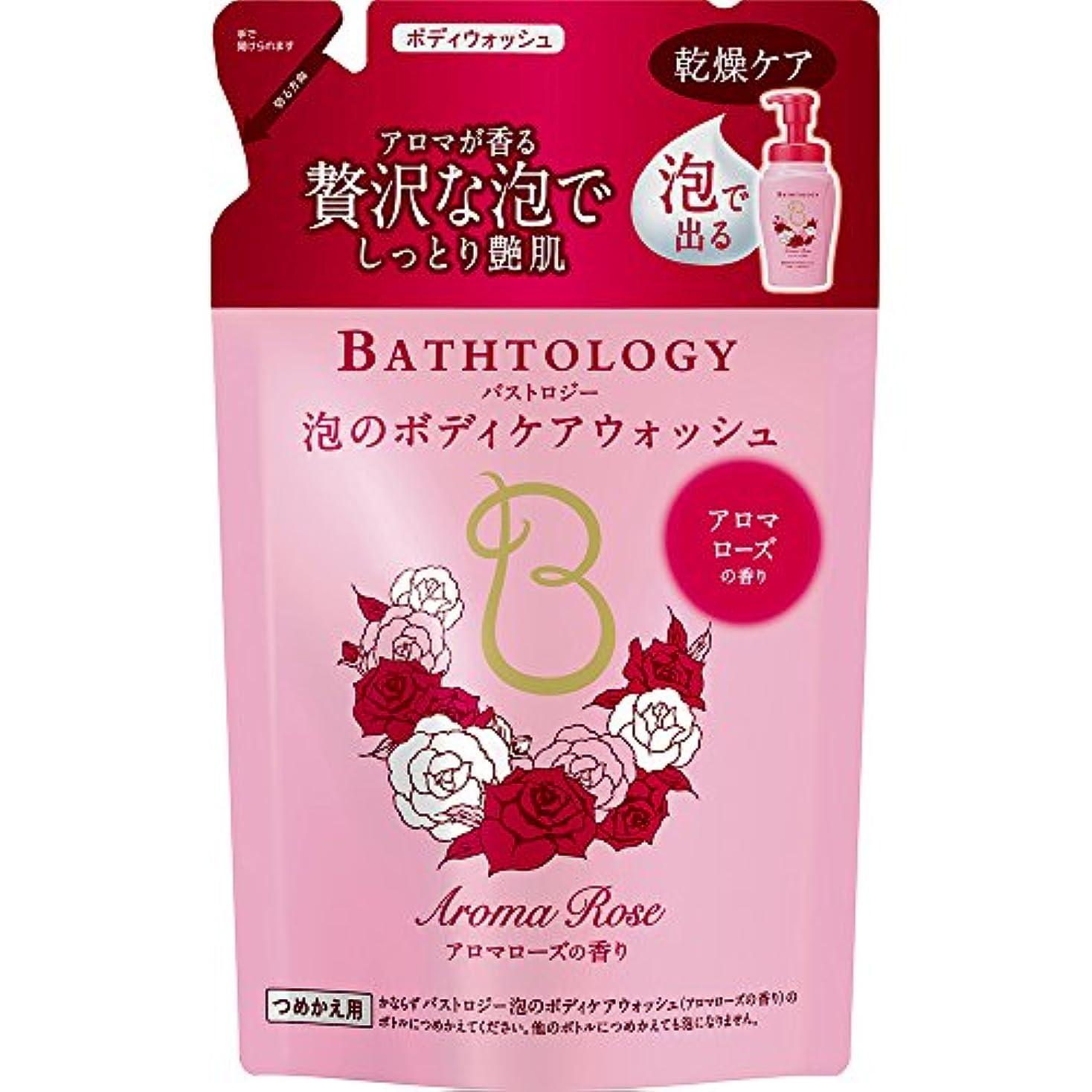 からかう耐久反対にBATHTOLOGY 泡のボディケアウォッシュ アロマローズの香り 詰め替え 350ml