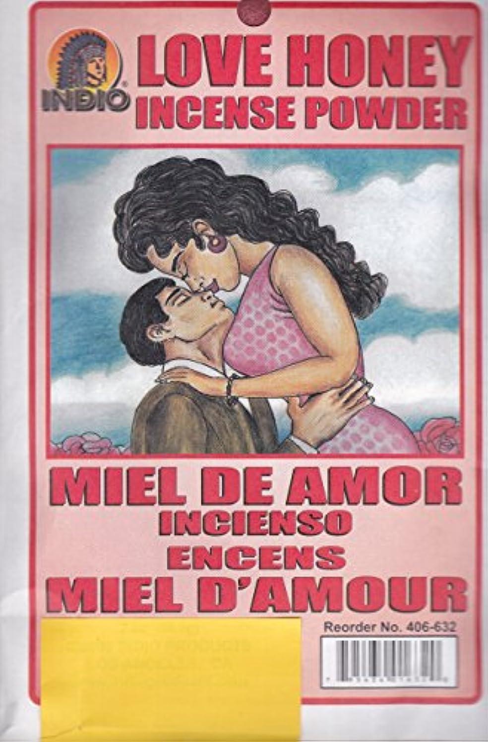 宇宙ロバ住居Love Honey Incense Powder – Miel de Amor Incienso Encens Miel dの世紀からハイビスカス柄Express