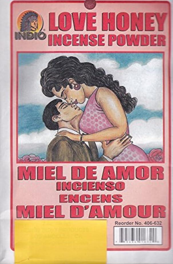 消える究極のより平らなLove Honey Incense Powder – Miel de Amor Incienso Encens Miel dの世紀からハイビスカス柄Express