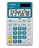 カシオ パーソナル電卓 時間・税計算 手帳タイプ 8桁 SL-300A-BU-N レイクブルー
