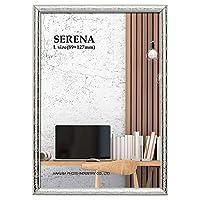 HAKUBA 額縁 メタルフォトフレーム SERENA 02(セレーナ 02) Lサイズ 1面 シルバー FSR02-SVL1