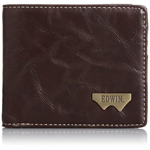 [エドウィン] 二つ折財布 グレイン合皮 Wメタル 12289938 71.ダークブラウン
