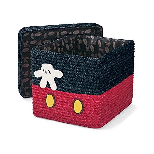 【Disney】ディズニー ふた付きバスケット ミッキーマウス 40