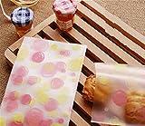 【Fuwari】 かわいい 袋 小袋 お菓子 チョコレート クッキー キャンディー ラッピング  100枚 包装袋 小分け プレゼント 用 (パステル?)
