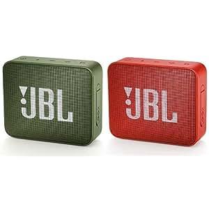 JBL GO2 Bluetoothスピーカー IPX7防水/ポータブル/パッシブラジエーター搭載 グリーン JBLGO2GRN 【国内正規品/メーカー1年保証付き】 &  GO2 Bluetoothスピーカー IPX7防水/ポータブル/パッシブラジエーター搭載 オレンジ JBLGO2ORG 【国内正規品/メーカー1年保証付き】