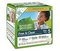 Seventh Generation - 自由で、明確な赤ん坊のおむつは上演する 5 (27+ lbs。) - 46 diaper(s)