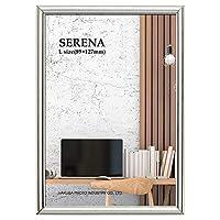 HAKUBA 額縁 メタルフォトフレーム SERENA 01(セレーナ 01) Lサイズ 1面 シルバー FSR01-SVL1