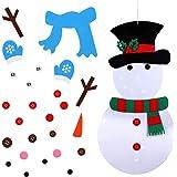 OurWarm 20 x 39 Inch Felt Christmas Snowman Games Set 31 PCS Detachable Year Xmas Gift Kids, Wall Hanging Xmas Gifts Christma
