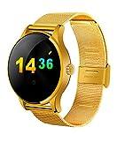 アディダス 腕時計 RG 防水の機能のブルートゥースの知能鋼は腕時計のスポーツを持って健康の監視測定を記録して、iOSAndroidに適用します (ゴールド)