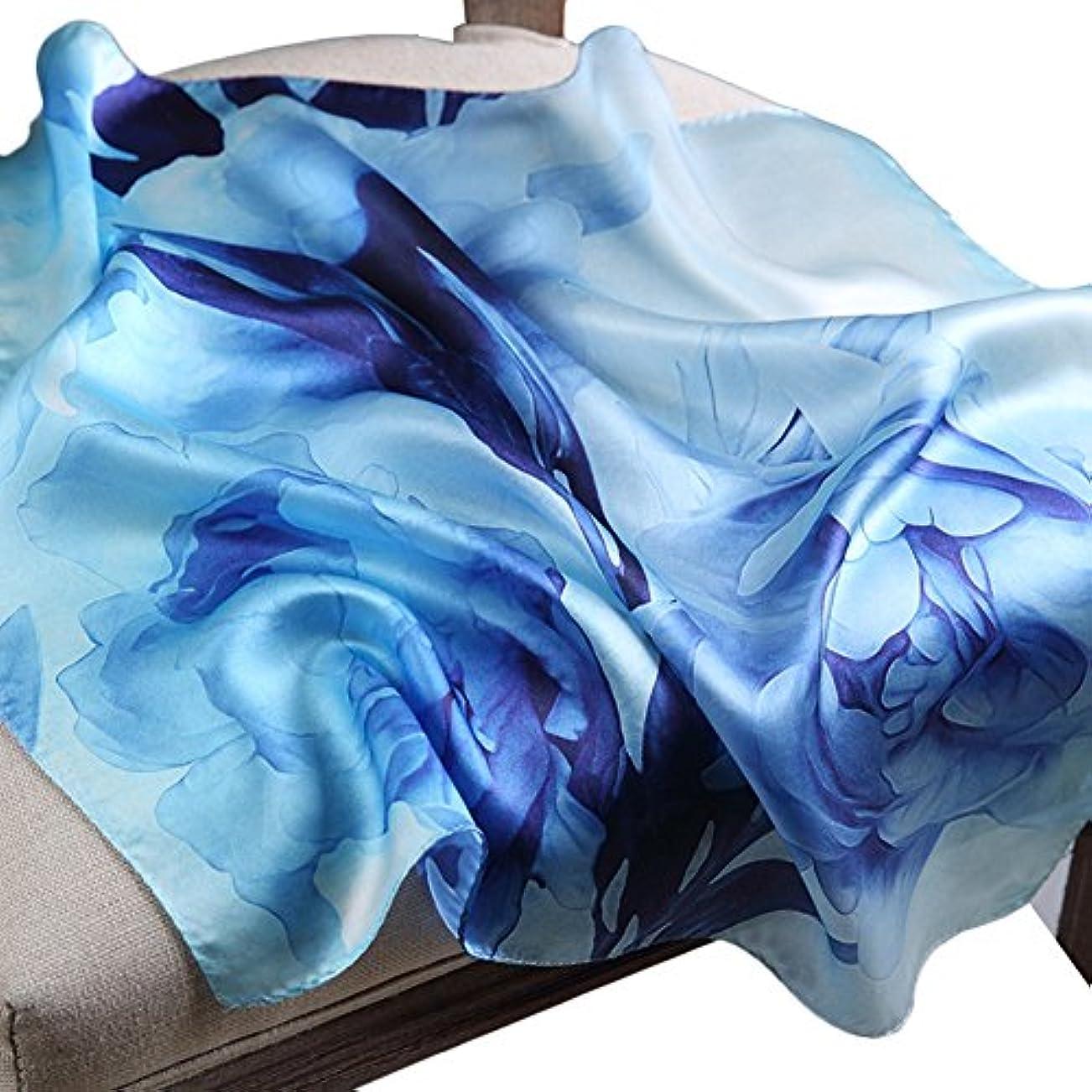 長いです五月慎重に[スゴフィ]SGFY レディース スカーフ シルク 風 調 スカーフ 50cm 角正方形 大判正方形 スカーフ 贈り物 ギフト 母の日 プレゼント ネッカチーフ オフィススカーフ (D5)