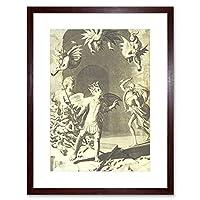 Painting Milton Demons Serpents Framed Wall Art Print ペインティング壁