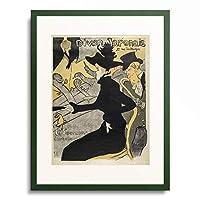 アンリ・ド・トゥールーズ=ロートレック Henri Marie Raymond de Toulouse-Lautrec-Monfa 「Divan Japonais, 1892-1893.」 額装アート作品