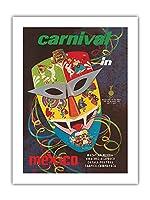 メキシコのカーニバル - ビンテージなカーニバルのポスター c.1960s -プレミアム290gsmジークレーアートプリント - 46cm x 61cm