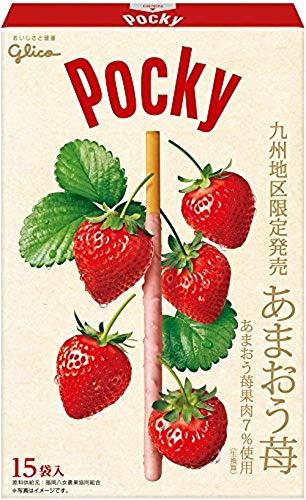 【 江崎グリコ 】 ジャイアント ポッキー あまおう苺 15袋 ×2箱