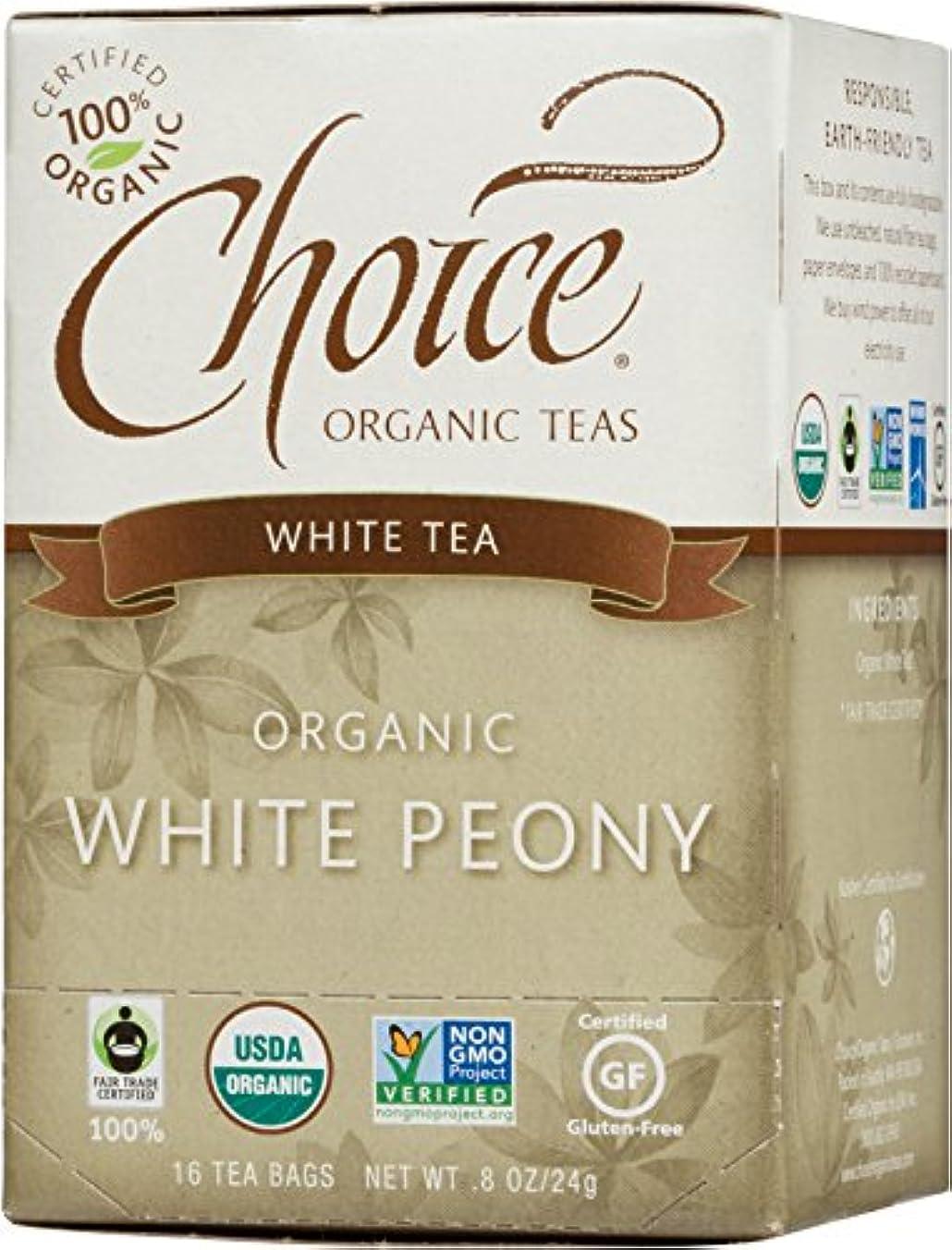 原理抑制するファン海外直送品Choice Organic Teas White Peony Tea, 16 BAGS