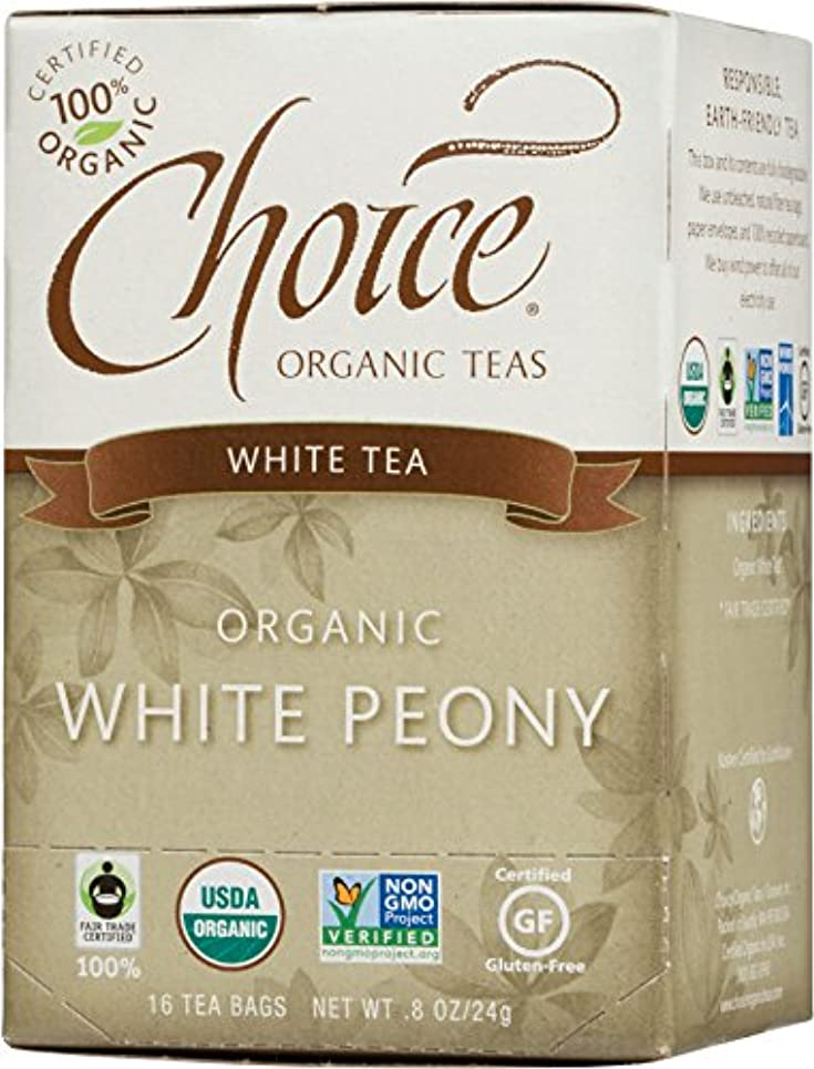 ジャベスウィルソン財団快適海外直送品Choice Organic Teas White Peony Tea, 16 BAGS