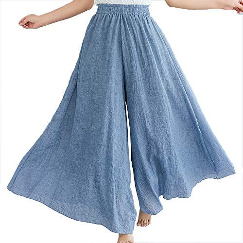 パンツ ドレープ ~ レディース 風 体型カバー スカート M ゆったり 春 XL [サン ブローゼ] シースルー 夏