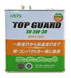 【AERA ENERGY】 日本製 エンジンオイル TOPGURD SN 5W-30/GF-5