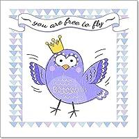 ポスターwith Bird用紙印刷壁アート 8in. x 8in.