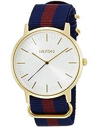 [ニクソン]NIXON 腕時計 PORTER NYLON: GOLD/WHITE/RED NA10592439-00 【正規輸入品】
