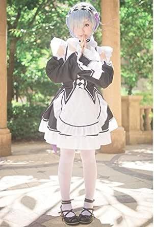 リゼロ レム 風 コスプレ ウィッグ付き フルセット メイド服 Re:ゼロから始める異世界生活 cosplay 【SDR】