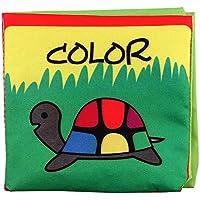 TCT TECH Crinkle、カラフルな早期教育玩具 ステレオブック、赤ちゃん用ソフトブック、アクティビティブック、毒性のない布製本、幼児、幼児、子供、ベビーシャワーに最適 TCT TECH S0207