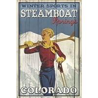 スキーSteamboat Springs by Kate Ward Thacker 36X 24アートプリントポスター