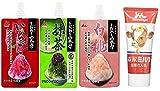 井村屋 かき氷シロップ 「こだわりの氷みつ」 3種セット (いちご・抹茶・白桃) 各150g、森永乳業 チューブれん乳 120g