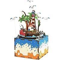 Perfeclan 誕生日 クリスマス ギフト DIY組み立て オルゴールボックス 3Dジグソーパズル 音楽ケース 無垢性 8色選べる - #7
