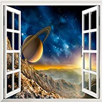 Hxcok カスタム写真壁紙3D外窓風景惑星壁壁画リビングルームのソファテレビの背景壁紙寝室の壁3D-250X175CM