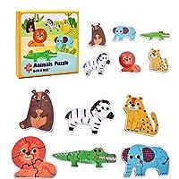 子供のおもちゃ 4本ペーパージグソーパズルセットの森/ファーム/海洋動物/運輸工具紙6-のIn-A-Boxのパズルゲーム教育玩具 教育玩具