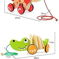 goodsceneクリエイティブpull-alongおもちゃ子供の教育玩具漫画クロコダイル木製幼児用玩具(グリーン)