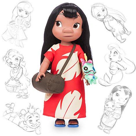 ディズニー(Disney) ディズニー公式 Animators' Collection アニメーター リロ ドール スクランプ付 LILO 外箱約42cm 2015年 スティッチ [並行輸入品]