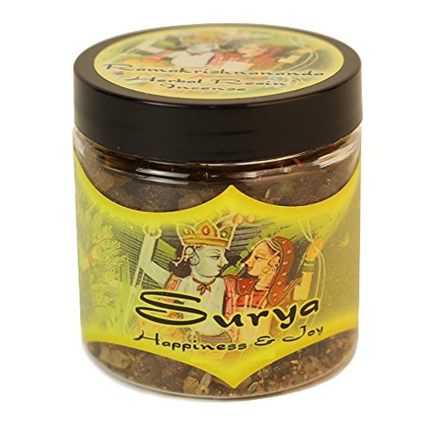 伝記のれん恥樹脂Incense Surya – Happiness and Joy – 2.4oz Jar