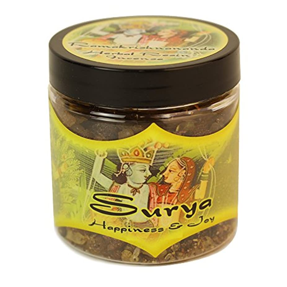 灌漑櫛帽子樹脂Incense Surya – Happiness and Joy – 2.4oz Jar