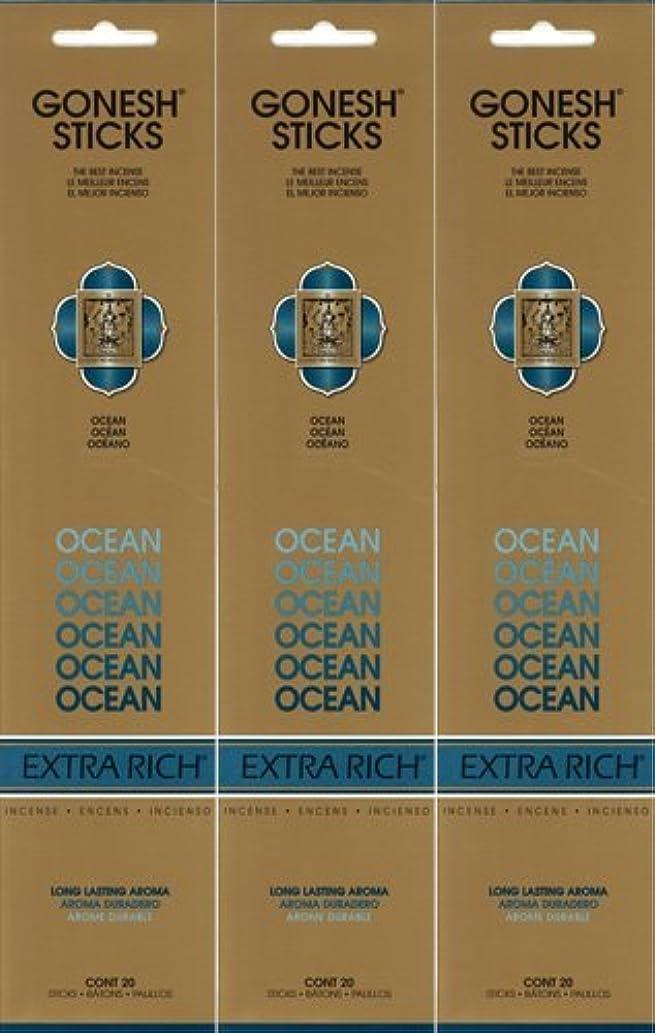 ベテラン枕ブロックGONESH ガーネッシュ OCEAN オーシャン 20本入り X 3パック(60本)