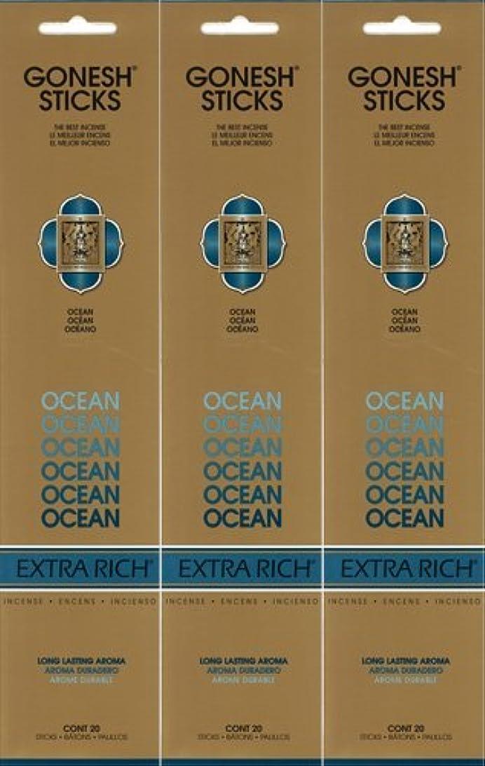 キャンベラ主人行き当たりばったりGONESH ガーネッシュ OCEAN オーシャン 20本入り X 3パック(60本)
