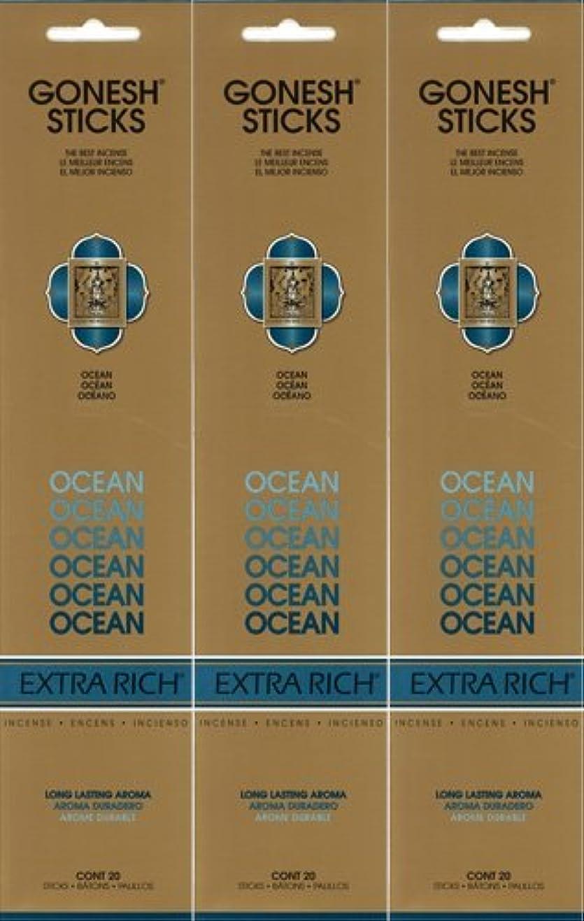 キュービックポット修正GONESH ガーネッシュ OCEAN オーシャン 20本入り X 3パック(60本)