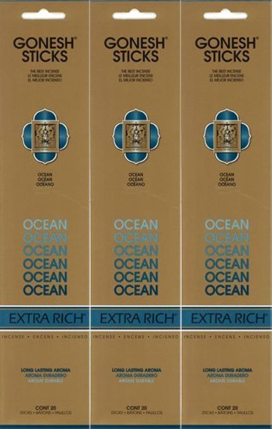 警告すずめ市の花GONESH ガーネッシュ OCEAN オーシャン 20本入り X 3パック(60本)