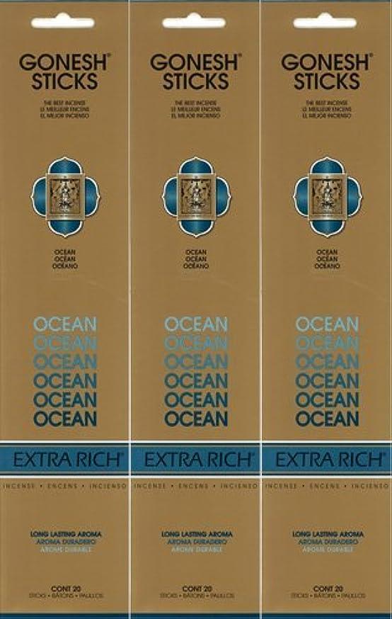 ノートリンスワークショップGONESH ガーネッシュ OCEAN オーシャン 20本入り X 3パック(60本)