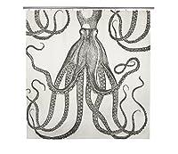 thomaspaul Octopus Shower Curtain, Charcoal [並行輸入品]