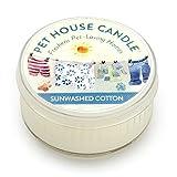 Pet House ペットハウス キャンドル 100%天然ソイワックス ペットの臭いを除去するキャンドル (サンウォッシュコットン)