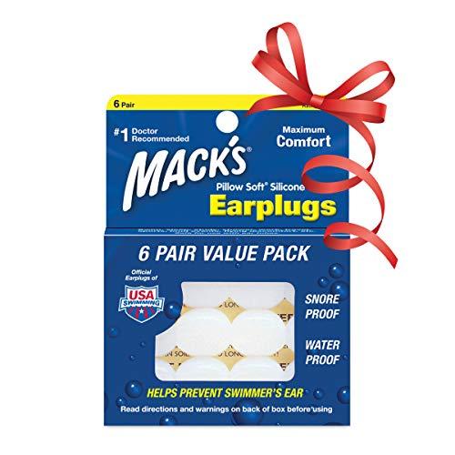 Macks Pillow Soft シリコン耳栓 6ペア N...