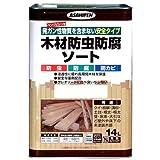 アサヒペン 木材防虫防腐ソート14L グリーン