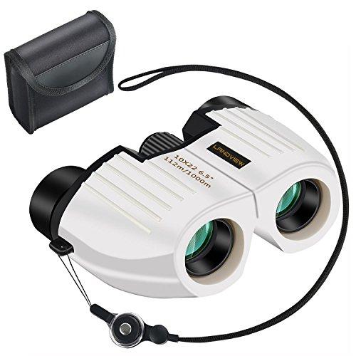Hanver 双眼鏡 コンサート専用 ミニ望遠鏡 10倍 10×22 近眼でも眼鏡は必要ない 高画質 高倍率 軽量 ブレない 疲れない ストラップ付(ホワイト) 【安心の2年間保 証】