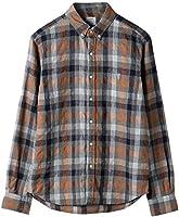 (コーエン) COEN ウインターリネンチェックボタンダウンシャツ 75106048100 1550 MD.GRAY(15) MEDIUM
