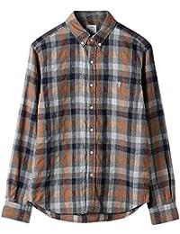 (コーエン) COEN ウインターリネンチェックボタンダウンシャツ 75106048100