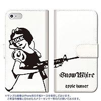 301-sanmaruichi- iPhone7 手帳型ケース iPhone7 ケース 手帳型 おしゃれ 白雪姫 snow white hunter 手帳ケース