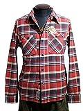 HOUSTON(ヒューストン) 長袖ネルシャツ ビエラ ワークシャツ 5色展開 #40108 (Lサイズ, 03 RED)