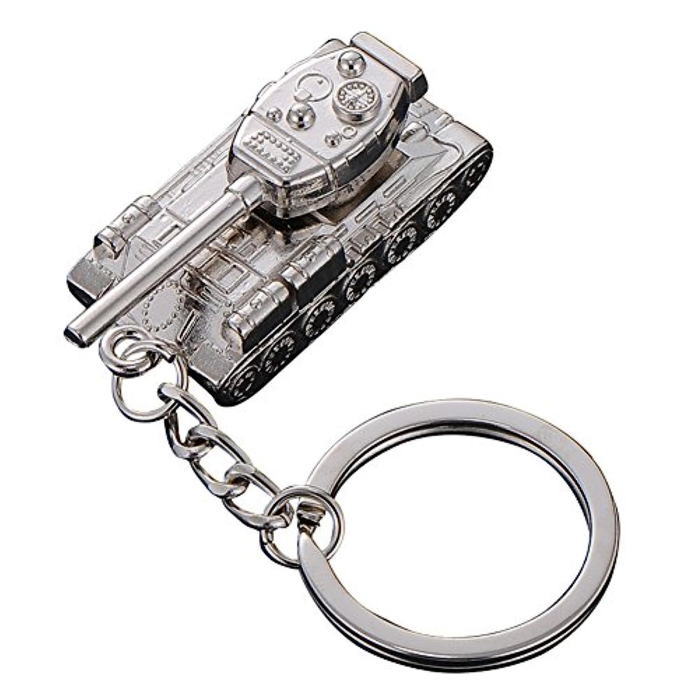 blisscomdep Coolタンクモデルキーチェーン、合金キーリング車ペンダントバッグ財布装飾ギフトfor Boys – シルバー 1 シルバー I143045F4S644LE